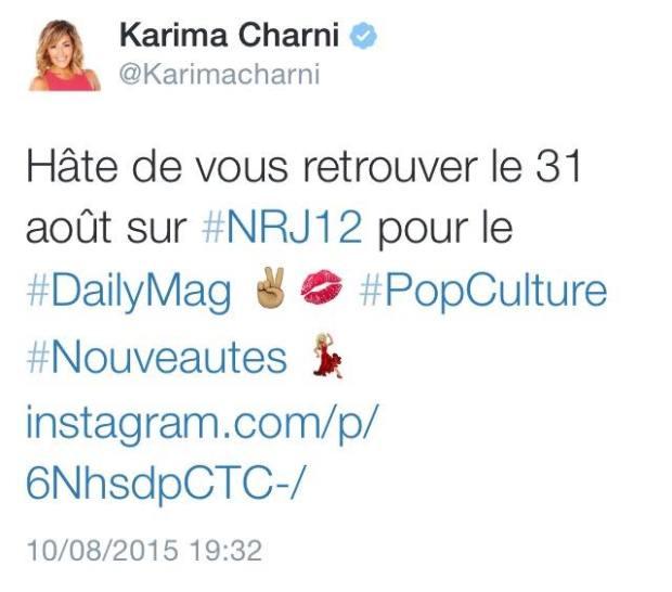 tweet karima